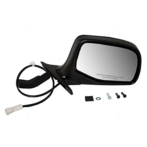 Passengers Power Side View Mirror Black & Chrome Replacement for Ford SUV (Bronco New Black Power Mirror)