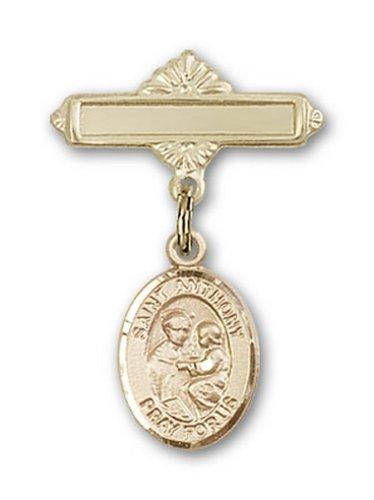 Icecarats Or Bijoux De Créateurs Rempli R. Anthony De Charme Padoue Broche De Badge 1 X 5/8