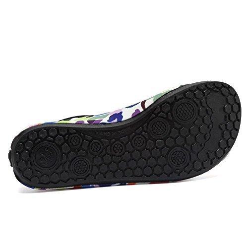 EQUICK Frauen Wasser Schuhe Quick-Dry Verschnaufpause Sport Haut Schuhe Barfuß Anti-Rutsch-Multifunktionssocken Yoga Übung Eine Farbe