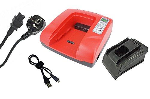 PowerSmart® 20-36V Cargador para Hilti C 4/36 de ACS, B 22/1.6, B 36/3.0, B 36/6.0, B22/2.6, B22/3.3, B36/3.9, AG 125 de A22, HDE - 500 de A22, SCM de ...