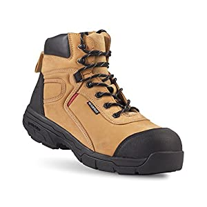 Gravity Defyer Madik Men's Tan Boots 9.5 Best Work Boots For Plantar Fasciitis Shoes For Heel Pain