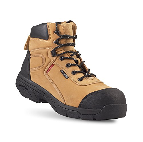 Gravity Defyer Madik Men's Boots - Waterproof, Slip-Resistant, Comfortable Work Boots - Great For Heel Pain & Plantar Fasciitis Tan