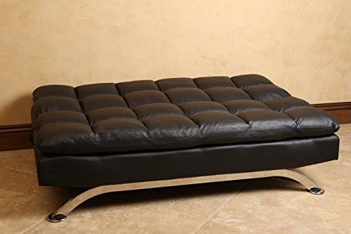 Abbyson dylan leather lounger sofa euro black best sofas for Sofa 500 euro