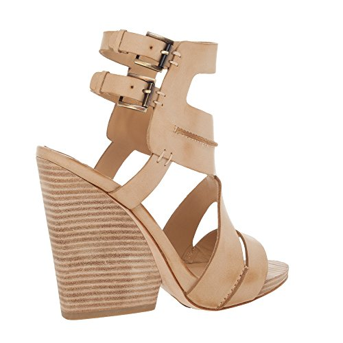 Erin Leather (Erin - Seamed Leather Wedges - 5F01330-CAMEL-9.5)