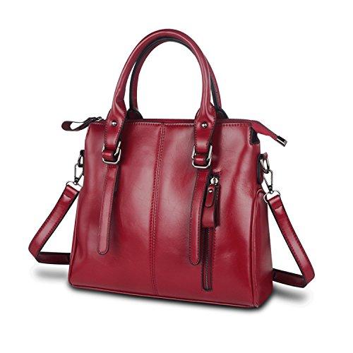 ZZSY - Bolso de tela para mujer Red