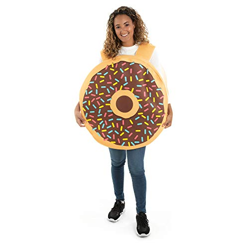 Chocolate Donut Costume Adult - Chocolate Sprinkled