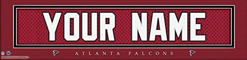 - Atlanta Falcons NFL Jersey Nameplate Wall Print, Personalized Gift, Boy's Room Decor 6x22 Unframed Poster