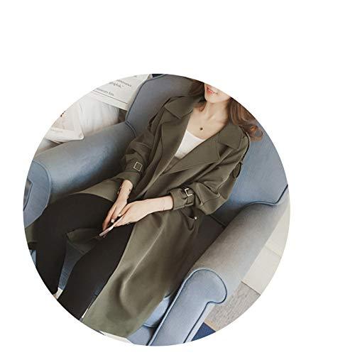 Début Armée Taille vent 2018 Automne Graisse Grande Coupe Verte Lâche Marée Longue Clothing Mm Femme Manteau HxB4qq