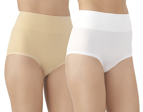 Vassarette Womens Comfortably Smooth Brief 2-Pack Panty 13274