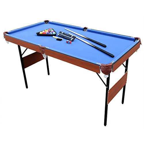 Hlc 55 folding space saver pool billiard table desertcart - Space needed for pool table ...