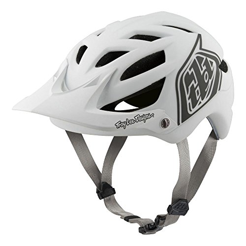 Troy Lee Designs Adult | All Mountain | Mountain Bike | A1 Classic Helmet with MIPS (Medium/Large, White)