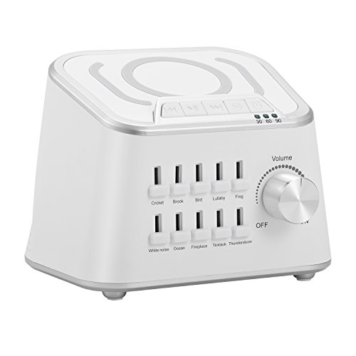 ADDSMILE Sound Machine White Noise for Baby Adult Sleeping with 10 Natural Sounds Portable Sleep Sound Therapy System High Fidelity with Bluetooth and Timer for Home Office Yoga Spa Relaxation