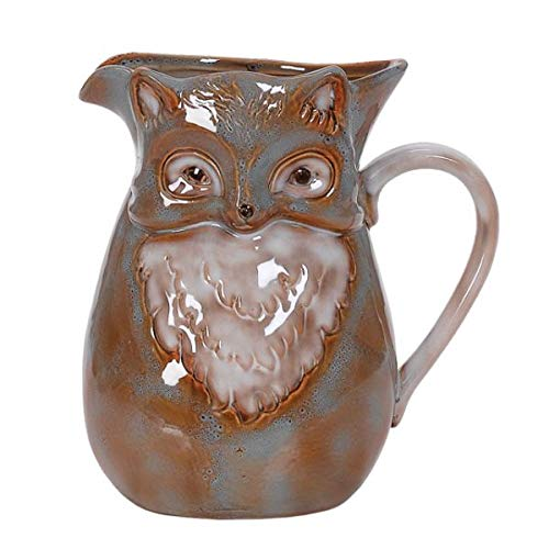 Fox Decor Pitcher Kitchen Utensil Holder | Woodland Animals | 9.5 Inches by Scout & Company
