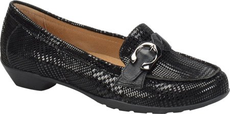 softspots Women's Peron Loafer,Black Houndstooth Suede/Calf Ionic,US 9.5 W