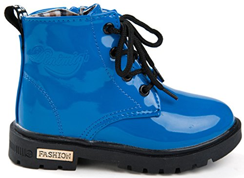 DADAWEN Boy's Girl's Waterproof Lace-Up Boots