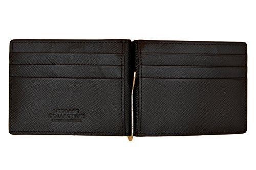 Versace Black Saffiano Leather Wallet With Money Clip by Versace Acc (Image #1)