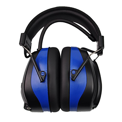 Bluetooth & Radio AM/FM Hearing Protection Safety Earmuffs, Noise Reduction NRR 25dB Headphones with Digital Display-Ear Protector for Mowing Lawn, with Replacement Foams by PROTEAR (Image #3)