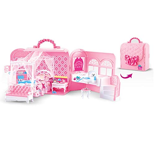 Tons of Cute Accessories Pink with Bed Lovely Bedroom Playset in Stunning Bag Bathtub