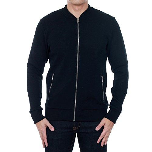 Jack&Jones Sweatshirt Herren Langarm Schwarz 12114173 JPRJASON SWEAT ZIP BASEBALL NECK WHITE/SLIM FIT