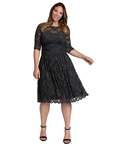 Plus Size Luna Lace Cocktail Dress