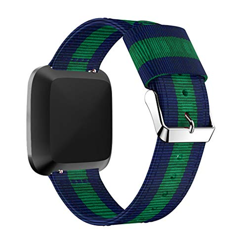 Ansenesna Watch Bands for Men Lightweight Nylon Replacet Watch Band Sports Strap for Fitbit Versa Lite (Blue)