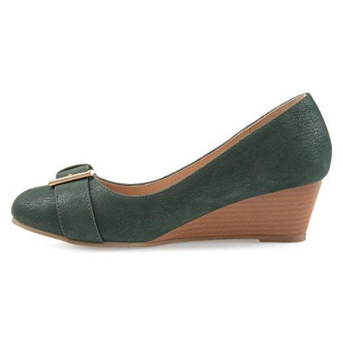 Fibbia Brinley Co Womens In Finta Pelle Scamosciata Fibbia Dettaglio Suola Comfort Suola Verde