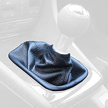 Black Leather-Blue Thread RedlineGoods Manual Shift Boot Compatible with Toyota Celica 2000-06