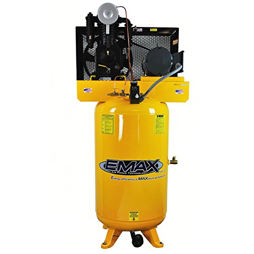 5 HP Air Compressor, 80-Gallon, Vertical, 2-Stage, 1-Phase, 2-Cylinder, Piston, Model EP05V080I1 by EMAX Compressor For Sale