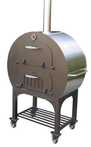 Wood Fired Burning Pizza Oven Outdoor Cooking