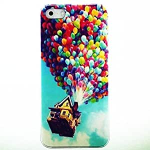 WQQ Balloon House Pattern Hard Case Cover for iPhone 4/4S