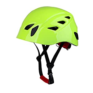 Dovewill 54 62cm Adjustable Rock Climbing Rappelling Caving Rescue Aerial Work Safety Helmet Hard Hat White/Green