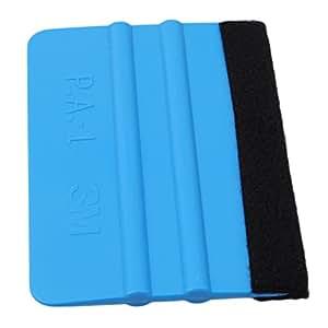 UNKE Plastic Felt Edge Squeegee for Car Vinyl Scraper Decal Applicator Tool ,Blue