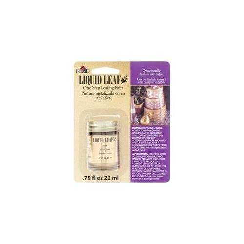 Bulk Buy: Plaid Liquid Leaf 3/4 Ounce Classic Gold 6110 (2-Pack)
