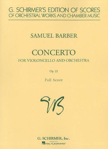 Concerto For Violoncello and Orchestra Op. 22 ( Full Score)