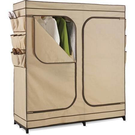 honey-can-do-60-double-door-storage-closet-with-shoe-organizer-khaki-brown-trim