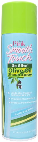 Price comparison product image Luster's Pink Smooth Touch Go Glitz Olive Oil Sheen Spray 15.5 oz.