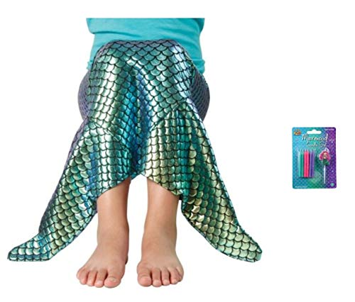 Mermaid Tail Costume & Birthday Candles - 2 Pack