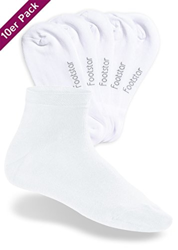 10 Bianco Gambo Calze It Corto Sneak Footstar Coppia Donne Uomo Corte gg1R7
