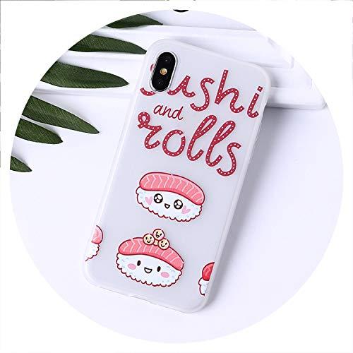 Food Fruit Pine Cake Lemon Banana Strawberry Sushi Phone Case Fundas for iPhone6 6Plus 7 7Plus 8 8Plus X XS Max Fundas,5,for iPhone 5 5S SE