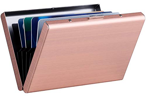 (MaxGear RFID Blocking Credit Card Holder RFID Credit Card Wallet Stainless Steel Wallet Metal Credit Card Case Metal)
