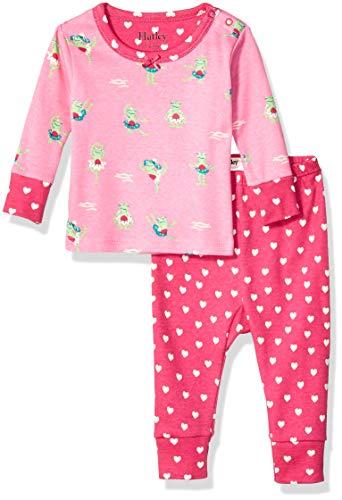 Hatley Baby Girls Organic Cotton Long Sleeve Mini Pajama Sets, Princess Frogs, 3-6 - Frog Cotton Pajamas