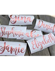 "DIY 4"" by 2"" Name Decal for glasses, hangers, cups, tumblers"
