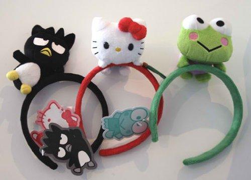 Hello Kitty Plush Head - Hello Kitty and Friends Set of 3 Plush Fuzzy Headbands