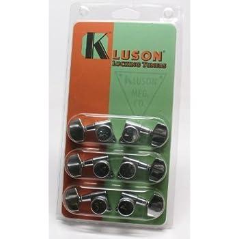 kluson locking tuners 3 per side chrome musical instruments. Black Bedroom Furniture Sets. Home Design Ideas