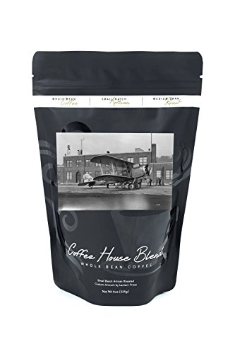 Airmail Plane at Boeing Field Photograph (8oz Whole Bean Small Batch Artisan Coffee - Bold & Strong Medium Dark Roast w/ Artwork)