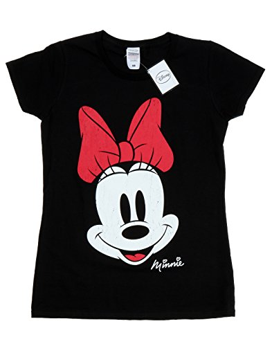 Amazon.com: Disney Womens Minnie Mouse Distressed Face T-Shirt: Clothing
