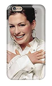Premium Protection Anne Hathaway Beautiful Smile Actress Celebrity People Women Case Cover For Iphone 6- Retail Packaging