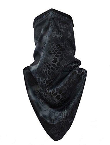 YYGIFT Printing Half Face Masks Motorcycle Balaclava Dustproof,Sunblock For Cycling Riding Hunting Hiking Climbing Fishing - (Half Face Halloween Skull)
