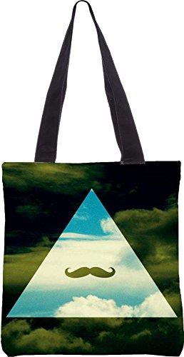 Snoogg Hipster Sky Baffi 13.5 X 15 Pollici Shopping Bag Tote In Tessuto Di Poliestere