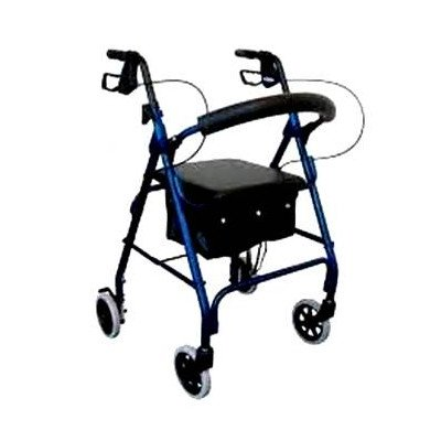 Deluxe Rollator Color: Blue by Revolution Mobility